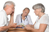 Patients visiting doctor — Stock Photo