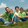 Cheerful family having fun — Stock Photo