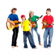Talented children in bright T-shirt  — Stock Photo