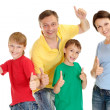 Good persones in bright T-shirts — Stock Photo