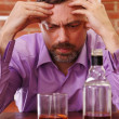 Man gets drunk — Stock Photo