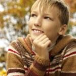 Happy boy relaxing in autumn — Stock Photo #34134223