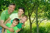 Fun family having fun — Stock Photo