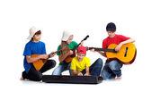 Pleasant children in bright T-shirt — Stock Photo