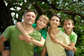 Tops family having fun — Stock Photo