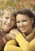 Portrait of a nice mom and her child — Stock Photo