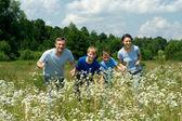 Cool family having fun — Stock Photo