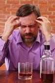 Muž opít — Stock fotografie