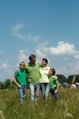 Fine family having fun — Stock Photo