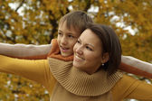 Portrait of a happy mom and her son — Stock Photo