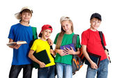 Fine children in bright T-shirt — Stock Photo
