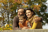 Portrait of a happy family together — Stock Photo