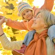 Stock Photo: Grandmother with her granddaughter