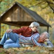 Stock Photo: Beautiful older couple