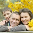 Foto Stock: Beautiful happy family