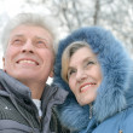 Beautiful elderly couple — Stock Photo #34304993
