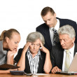 Team of enterprising businessmen — Stock Photo