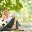 Little boy with ball — Stock Photo