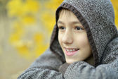 Young boy on walk — Stock Photo
