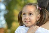 Little girl on a walk — Stock Photo