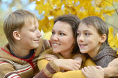 Mother with her sons — Stock Photo