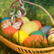 Many easter eggs — Stock Photo