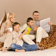 Family resting at home — Stock Photo