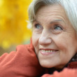 Happy beautiful old woman — Stock Photo
