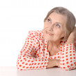 Happy elderly woman — Stock Photo