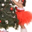 Little girl celebrating Christmas — Stockfoto