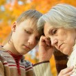 Grandmother with her grandson — Stock Photo