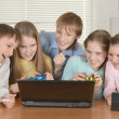 Group of friendly children — Stock Photo
