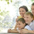 Portrait of happy family — Stockfoto