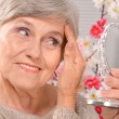 Stock Photo: Happy aged woman