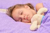 Little girl sleeping — Stock Photo