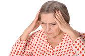 Senior sad woman — Stock Photo