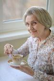 Beautiful elderly woman — Stock Photo