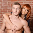 Sexy young couple portrait — Stockfoto