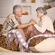 Aged couple at home together — Stock Photo