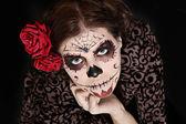 Zombie halloween woman — Stock Photo
