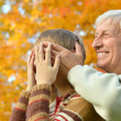 Grandfather with grandchild — Stock Photo