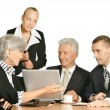 Stock Photo: Entrepreneurs to discuss current issues