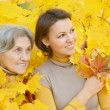 Mom and daughter for walk — Stock Photo #36628489