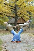 Altes ehepaar im park — Stockfoto