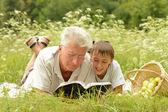 祖父と孫 — ストック写真