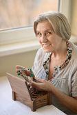 Portrét starší ženy — Stock fotografie