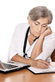 Serious elderly doctor — Stock Photo