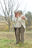 Handsome elderly couple — Foto Stock