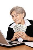 Senior businesswoman — Stock Photo