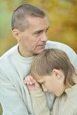 Sad father and boy — Stock Photo